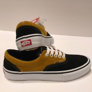 Vans era pro corduroy black yolk sneaker shoes